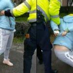 Scandal uriaș din cauza măștii! Femeie încătușată de polițiști | VIDEO