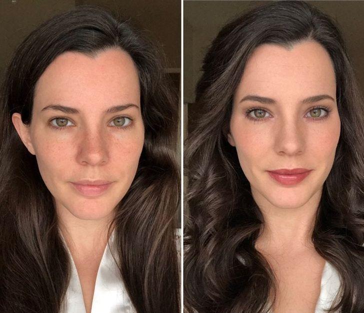 """14 fotografii """"înainte și după"""" care arată că machiajul poate face minuni"""