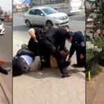 Scene halucinante în Piatra Neamț! Bărbat pus la pământ și încătușat pentru că nu purta mască de protecție