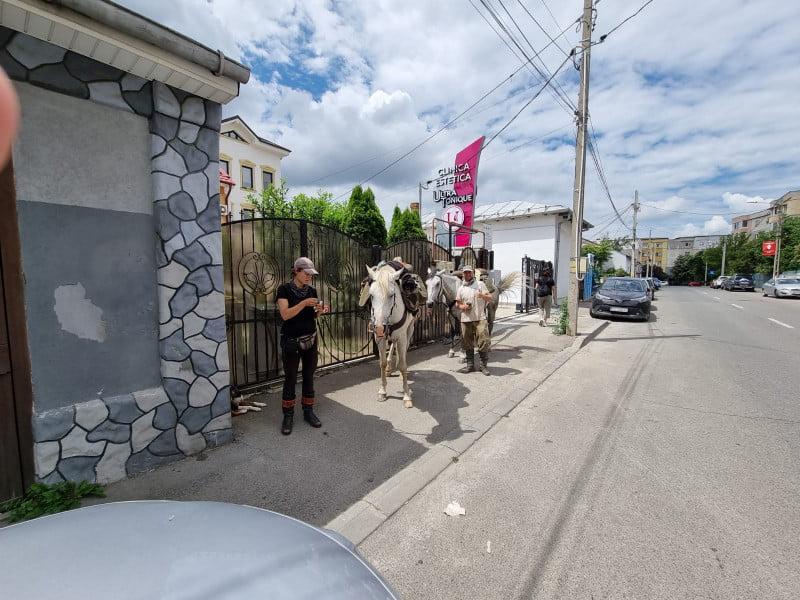 Doi turiști străini plecați călare pe cal la Castelul Bran s-au rătăcit la Craiova. Reacția polițiștilor locali